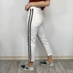 NWOT UTERQUE cropped white skinny jeans 1622